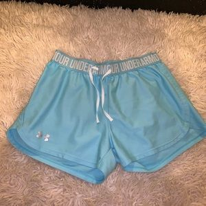 Under Armour Baby Blue workout shorts